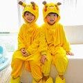 (Zapatillas no incluido) Niños Buzos Carnaval de Halloween Año Nuevo Disfraces de Dibujos Animados Onesie Pijamas Pikachu Totoro Unicornio
