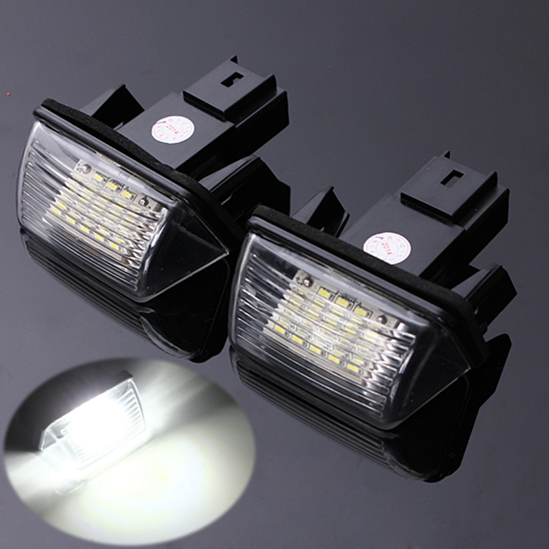 2Pcs 12V 18 LED License Number Plate Light Bulbs Lamp For Peugeut 206 207 306 CITROEN C3 C4 5 XSARA Free Error