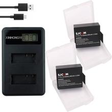 2x Digital Batteries + USB LCD Dual charger For SJCAM SJ4000 wifi battery SJ5000 SJ6000 EKEN 4K H8 H9 GIT-LB101 GIT PG900 1050 3pcs digital sjcam sj4000 battery for sjcam sj4000 sj5000 sj6000 sj8000 eken 4k h8 h9 git lb101 git pg900 1050 sports camera