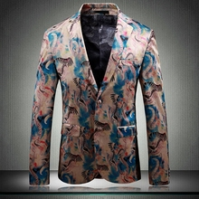 Super Quality Slim Fit Blazer Mens Floral Blazers Prom Dress Elegant Wedding And Suit Jacket Men 12#35D50