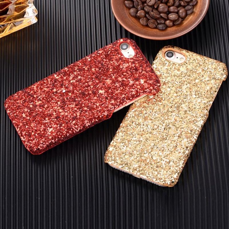Bling glitter case untuk iphone 7 8 plus asli hard case untuk iphone - Aksesori dan suku cadang ponsel - Foto 2