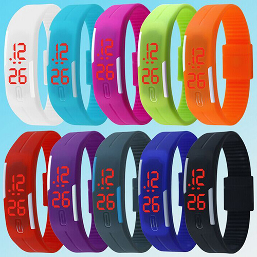 Men Women Silicone Red LED Sports Bracelet Touch Watch Digital Wrist Watch 2018 Military Electronics Watch Dropshipping Relojes