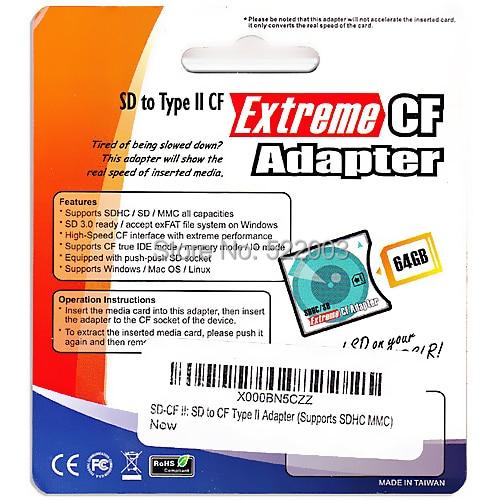 High Quality Sdsdhcmmceye Fi Card To Compact Flash Cf Type Ii