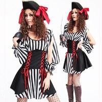 Halloween Kerst Piraat Kostuum Meisjes Party Cosplay Kostuums Voor Vrouwen Halloween Fantasia Fancy Jurk Vrouwelijke Cosplay Outfit
