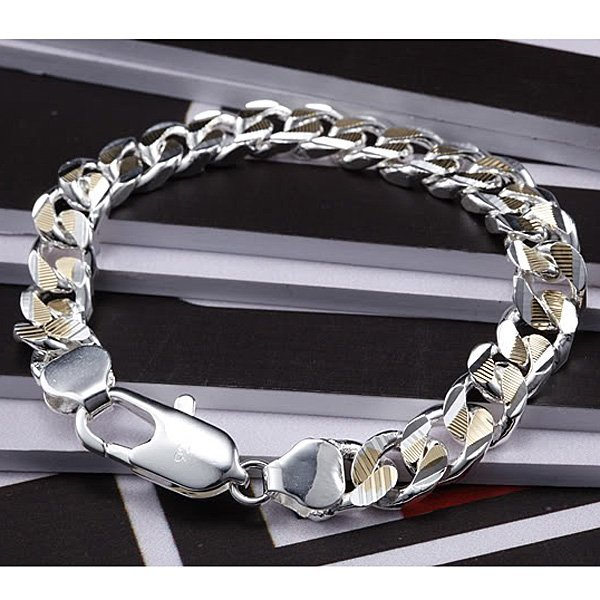 Men's jewelry / silver plated fashion bracelet about 8inch, free shipping,factory price, silver plated bracelet jewelry MB2