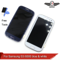 I9300 display lcd para samsung galaxy s3 i9300 touch screen digitador com home button assembléia + moldura do quadro
