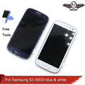 i9300 LCD Display For Samsung Galaxy S3 i9300 Touch Screen Digitizer with Home Button Assembly+Bezel Frame