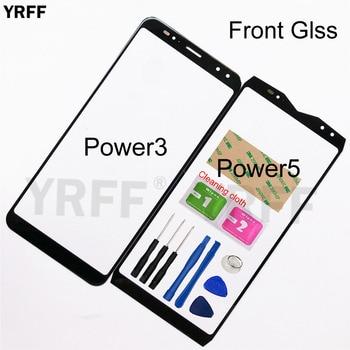Vidrio de Panel frontal móvil para Ulefone Power 5 3 cristal frontal (sin Panel de Digitalizador de pantalla táctil) cubierta de vidrio exterior