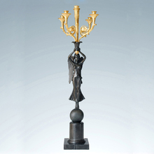 ATLIE BRONZES Europe bronze statue candle holder beautiful angel holders sculpture decoration business gifts