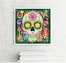 Full round diamond 5D DIY diamond embroidery Sugar Skulls diamond painting  Cross Stitch Rhinestone mosaic home decoration flower 32d1d21f10f1