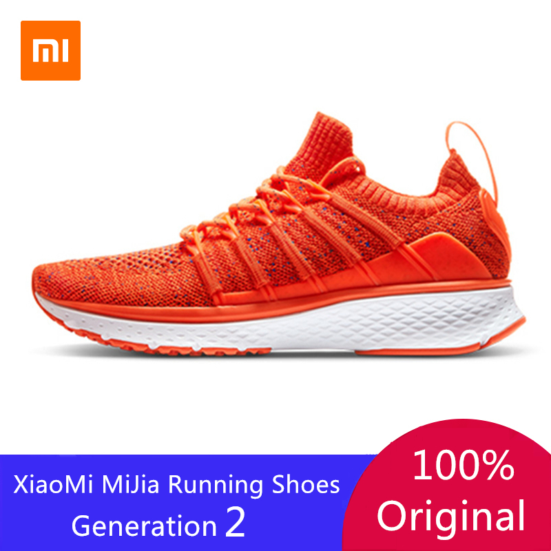 Xiaomi Mijia Women Running Shoes 2 Professional Lady Girls Sneakers Fishbone Lock System Elastic Knitting Vamp For Women