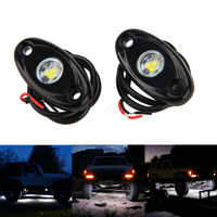 4 X White LED OFF ROAD JEEP Under Body Rock Lights Fender Lighting