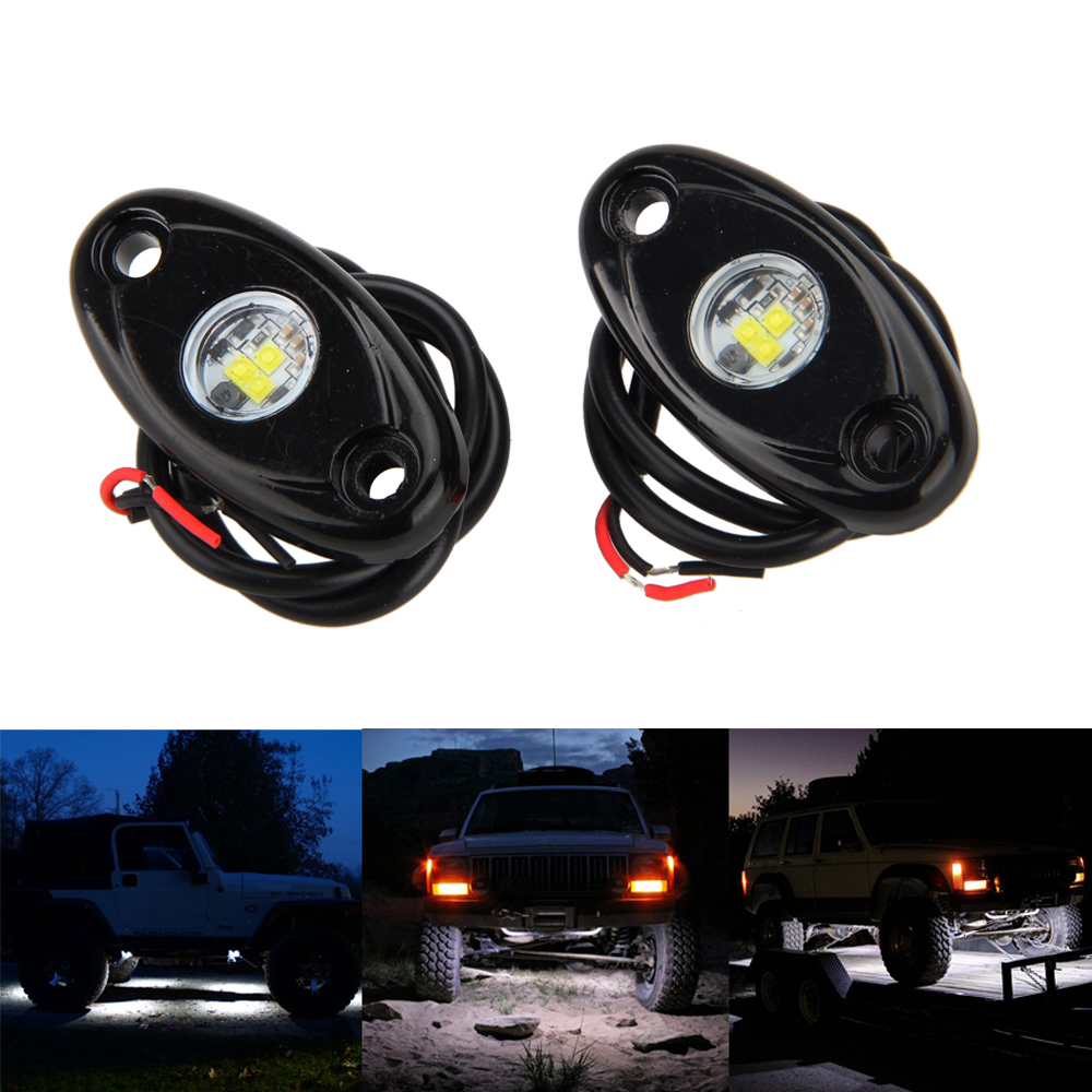 4 x White LED OFF ROAD/JEEP Under Body Rock Lights Fender Lighting starpad for xinyuan off road motorcycle accessories x2 x2x off road vehicles after the fender white