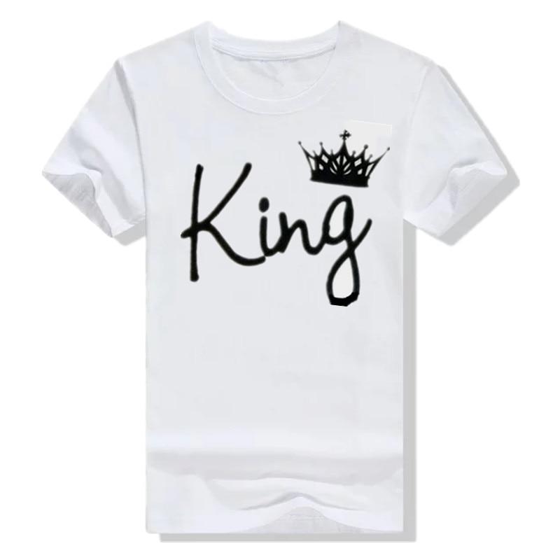 55b4d3e2e6 קנו צמרות וtees | King Queen T Shirt Imperial Crown Printing King ...