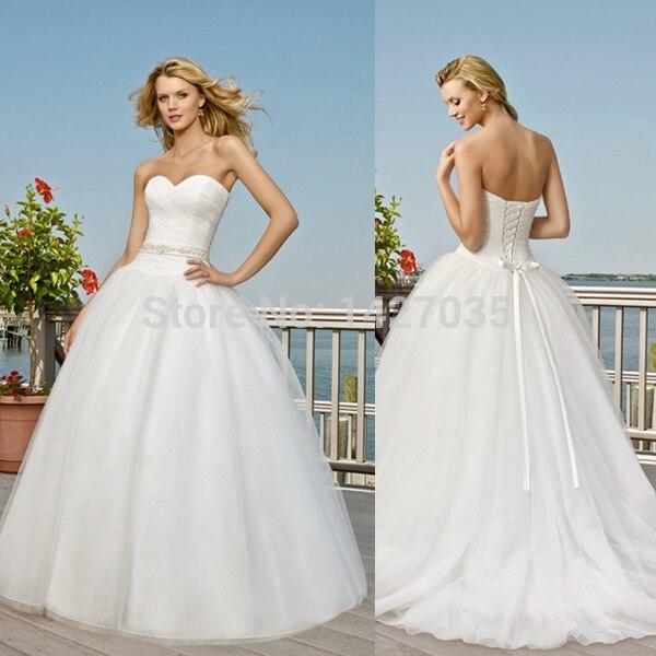 New Gownwd1440 Sweetheart Neckline Corset Ruched Bodice Beaded Waistline Tulle Skirt White Ball Gown Saudi Arabian
