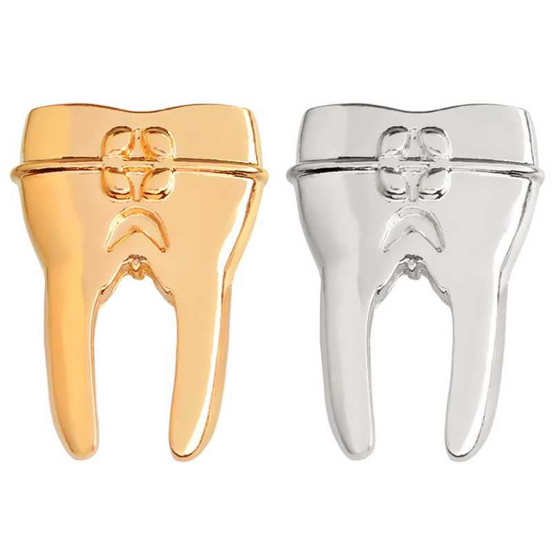 New Fashion Style Dentist Tooth Pin With Crystals Jewelry For Medical Doctors Nurse Medical Student Brooch Science Gifts