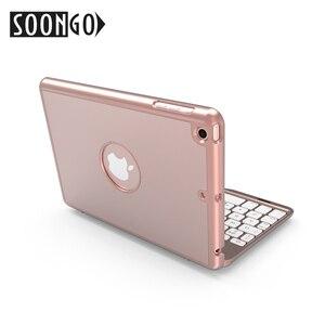 Image 2 - SOONGO 7.9 Inç kablosuz bluetooth Klavye Kapak için ipad mini4 Kapaklı Arkadan Aydınlatmalı Tuş Takımı Apple ipad mini4 Tablet Klavye