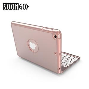 Image 2 - SOONGO 7.9 Inch Wireless Bluetooth Keyboard Cover for ipad mini4 Clamshell Backlit Keypad for Apple ipad mini4 Tablet Keyboard