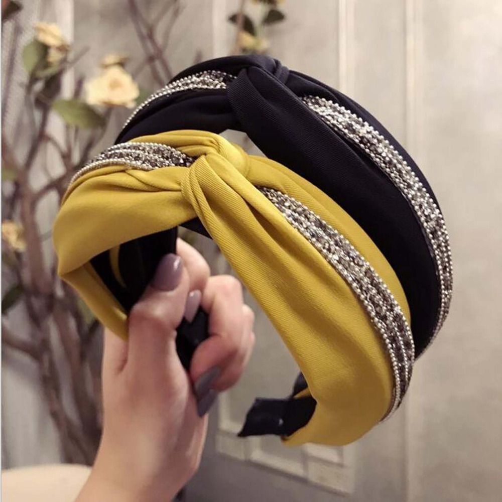 2019 Fashion Headband Women's Hairband Hair Accessories High Quality Shining Rhinestone Patchwork Headwear Wholesale(China)