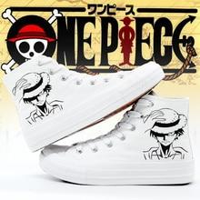 Цельные кроссовки; женская обувь на платформе; модная парусиновая обувь из аниме; обувь с принтом обезьяны D; Косплей Луффи; женская обувь по индивидуальному заказу; мужская обувь