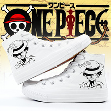 06bf14c5337 O One Piece Sneakers Plimsolls Mulheres Sapatos Da Moda Sapatos de Lona  Anime Monkey D Luffy Cosplay Mulher Personalizado Sapato.