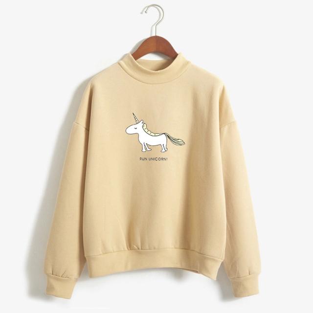 Cute Unicorn Printed Women's Sweatshirt