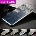 Elftear ultra thin tpu case para iphone 7 4.7 ''flores patrón de flores pintado transparente borrar back case cover