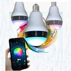 Image 4 - Smart RGB E27 Birne Bluetooth 4,0 Audio Lautsprecher Lampe Dimmbare LED Drahtlose Musik Lampe Licht Farbwechsel über WiFi App control