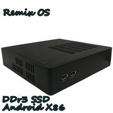 Бизнес pos офис мини-ПК Box TV встроенный DDR3 SSD несколько моделей Remix OS Коди HTPC WiFi HDMI VGA