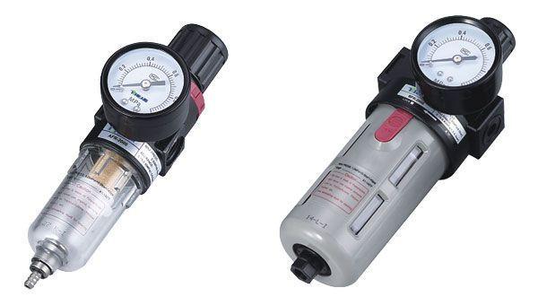 BFR2000-02 Filter and Regulator (Air Source Treatment Unit) 1 4 bfr 2000 air source gas treatment pressure filter regulator model bfr2000 with pressure gauge
