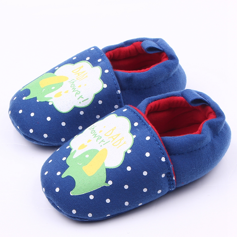 New Arrival Winter Soft Sole Animal Prints Cotton Infant Toddler Cute Baby Girl Boy Frewalk Shoes For 0-15 Months