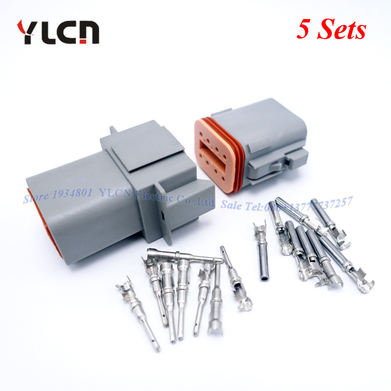 5 Sets Kits Car Parts 8 Pin/ Way Auto Sealed Electric Wire Connector ...
