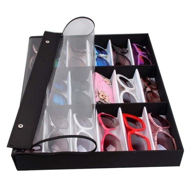Wholesale Makeup Sunglass Case Women And Men PU 18 Gird Sunglasses Box  Sunglasses Storage Shop Display