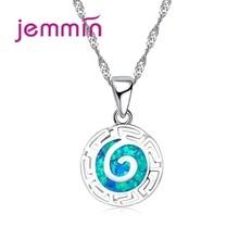 """Ожерелья в стиле """"Ретро"""" для женщин, ювелирные изделия для помолвки, красивые ожерелья, 925 пробы, серебряные подвески, ожерелья с голубым опалом"""