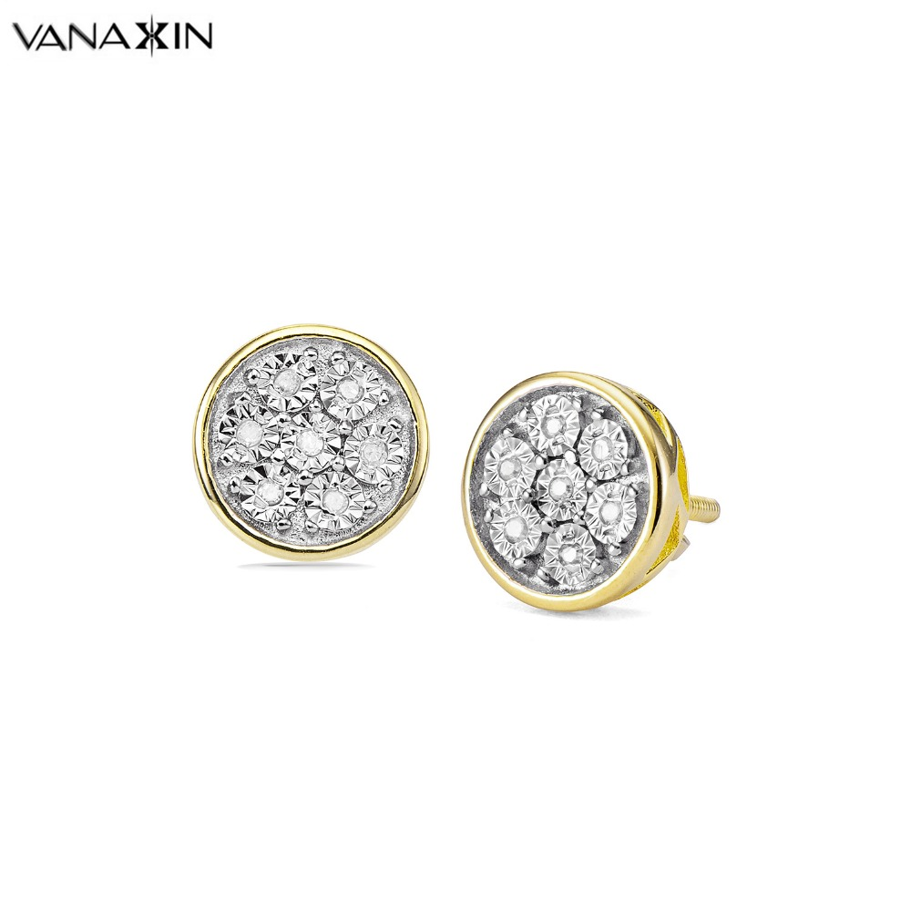 VANAXIN Earring for Women 925 Sterling Silver AAAAA Stone Holy Natural Jewelry 8MM Stud Earring Women Wedding Jewelry Gift BoxVANAXIN Earring for Women 925 Sterling Silver AAAAA Stone Holy Natural Jewelry 8MM Stud Earring Women Wedding Jewelry Gift Box