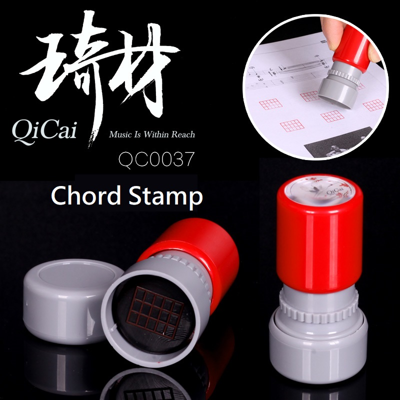 QiCai QC0037 Guitar Chord Rubber Stamp Easy to Use for Acoustic Electric Bass Guitar Plus Ukulele ...
