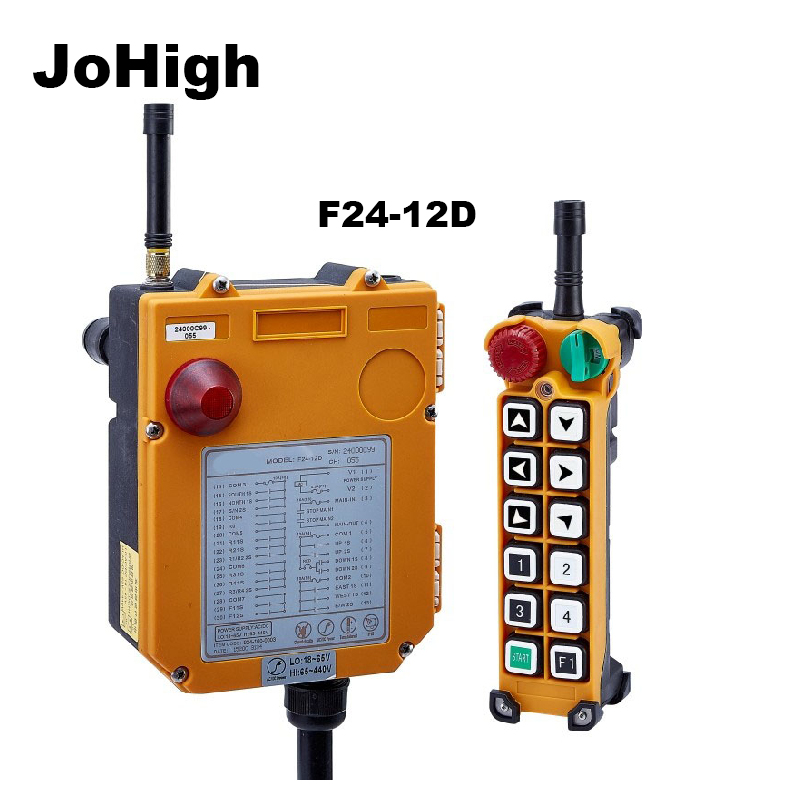 JoHighF24-12D Double Speed  Industrial remote controller Hoist Crane 315MHZ 12 Buttons 1 transmitters + 1 receiverJoHighF24-12D Double Speed  Industrial remote controller Hoist Crane 315MHZ 12 Buttons 1 transmitters + 1 receiver
