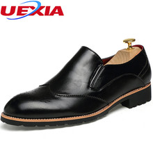 New Men Shoes Leather Pointed Toe Dress Shoes Men's Classic Formal Oxford For Footwear Wedding Fashion Flats Breathable Business