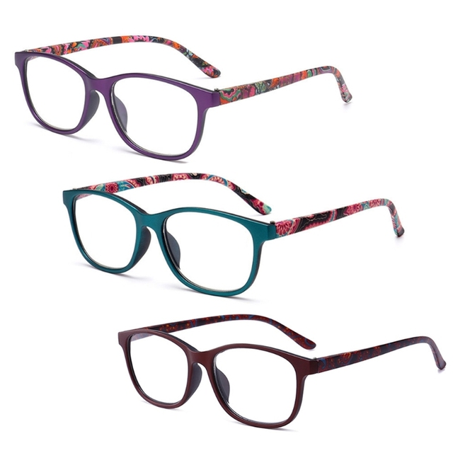 Fashion Reading Glasses Transparent Lenses Presbyopic Prescription Reading Eyeglasses Men Women's Glasses with Diopter W715