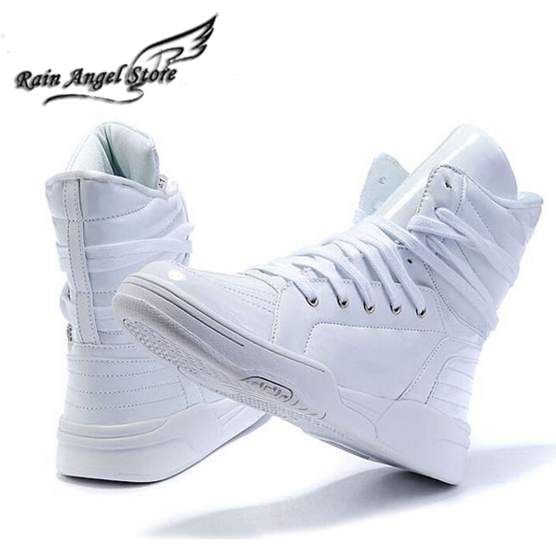Hot Selling Solid Color Hip Hop Shoes Men White PU Dance ...