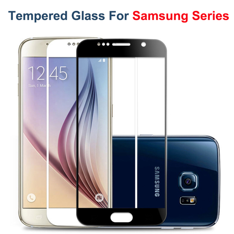 2.5D Tempered Glass Screen Protector Case for samsung galaxy s7 s6 s5 s4 s3 full cover for samsung note 5 4 note5 film glass