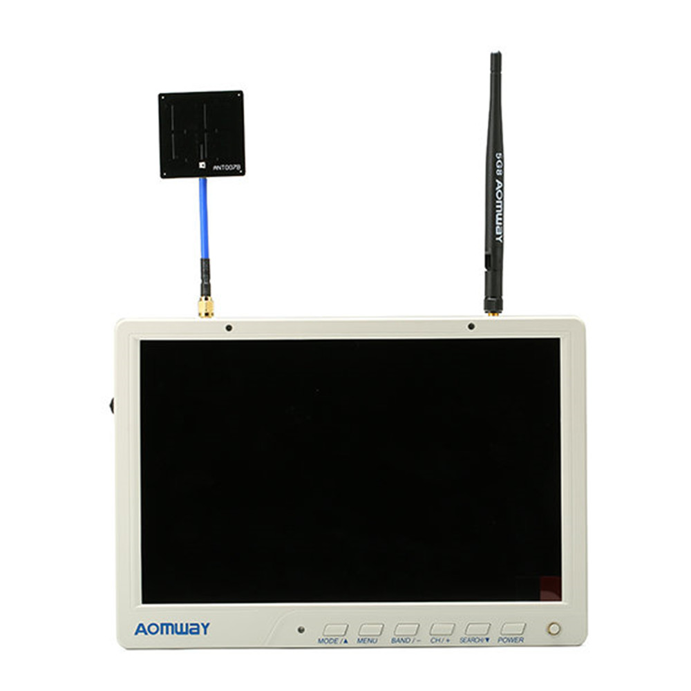 High Quality Aomway HD588 10 Inch 5.8G 40CH Diversity FPV HD Monitor 1920 x1200 with DVR Build in Battery For FPV Multicopter original aomway rx006 dvr video recorder 5 8g 48ch diversity raceband a v receiver for rc multicopter antenna transmitter part