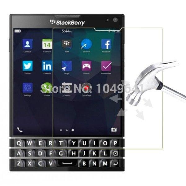 imágenes para 10 unids/lote 9 h 2.5d vidrio templado a prueba de explosiones protector de pantalla de cine para para blackberry passport q30 lcd