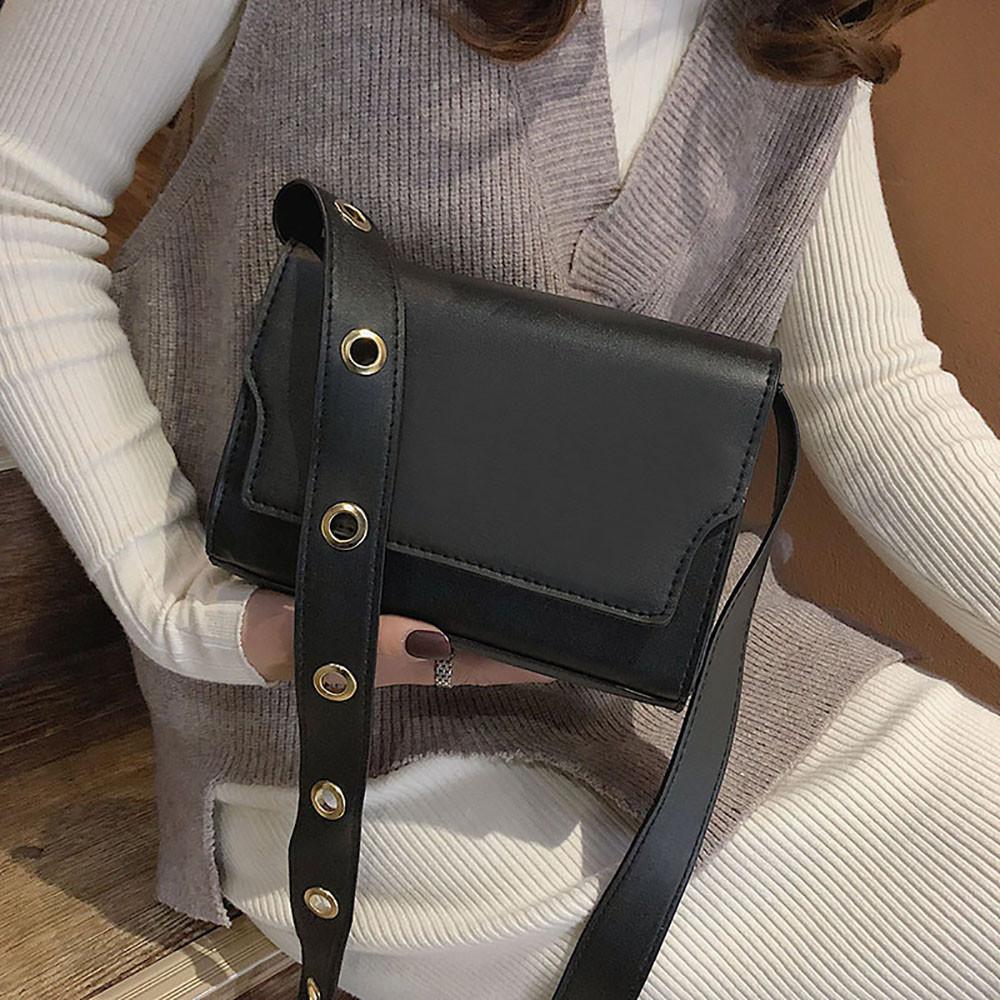 Molave handbag Women Wide Shoulder Strap Retro Versatile Single Shoulder Bag Messenger hasp fashion new bag women 2019jan10 handbag