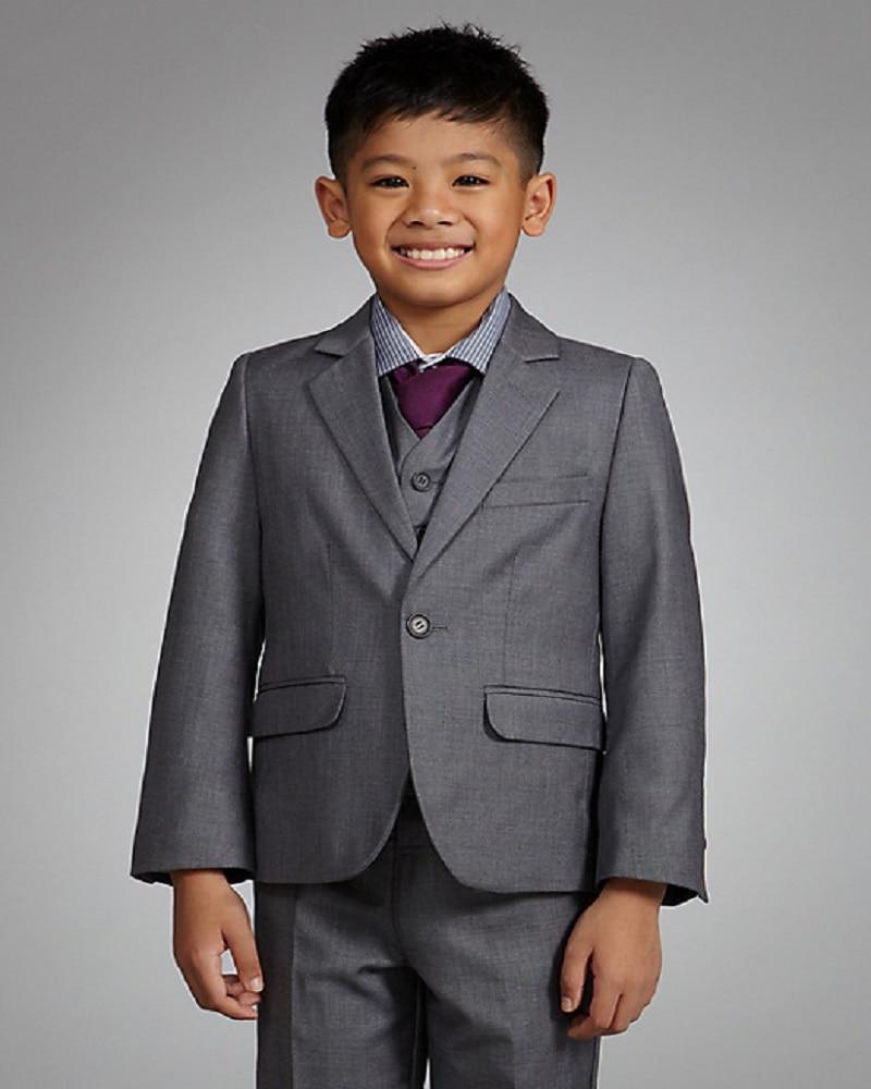 Coat+Pants+Vest+Tie+Shirt) 5 Pieces BF293 Custom Made Smoking Casamento  Evening Party Tuxedo Suit Attire Boys Wedding Clothes-in Boys  Attire from  Weddings ... 7a241ea57827