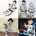 2017 SPRING AUTUMN KIDS panda  sweatshirts+pants 2 pcs clothing sets baby boy clothes baby girl clothes kids clothes kikikids
