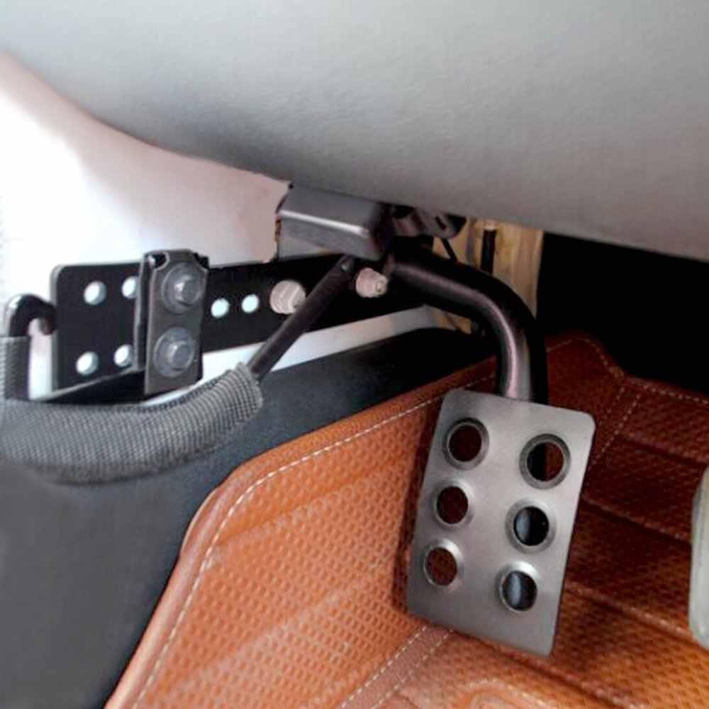 Metal Dead Pedal Left Side Foot Rest Kick Panel for Jeep Wrangler JK JKU Unlimited Rubicon Sahara X Off Road Sport Accessories