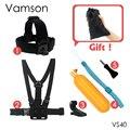 Xiaomi yi 4 k kit acessórios chest strap floaty bobber monopé para gopro hero 5 4 3 + eken h9r sjcam sj4000 câmera de ação VS40