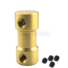 Tembaga Flexible Shaft Coupling Motor Coupler tegar 20mm untuk Hobby Tangan Bor Alat 2 / 2.3 / 3 / 3.175 / 4/5 / 6mm ke 2/3 / 3.175 / 4/5 / 6mm