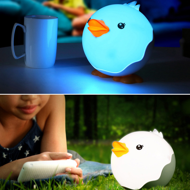 Cartoon duckling LED night light rechargeable table lamp night light bedroom bedside lamp touch light sensor lamp baby milk lamp colorful waterdrop cartoon ombre led night light